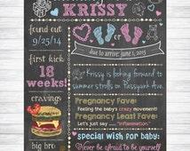 Baby Shower Chalkboard Sign, Custom Baby Shower Chalkboard Sign, Baby Shower Keepsake-Custom Printable Chalk Poster