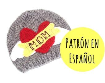 PATRÓN de gorro roquero tejido para bebés y niños - ESPAÑOL - Descarga inmediata
