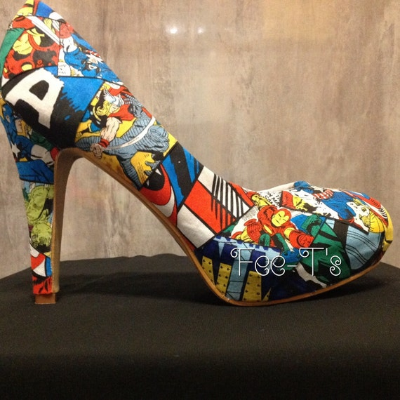 marvel shoes by heilanshoo on etsy