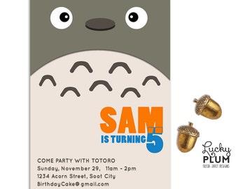 Studio ghibli birthday party invitations Etsy