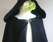 Hooded Wool Cape Hip Length choose from colors