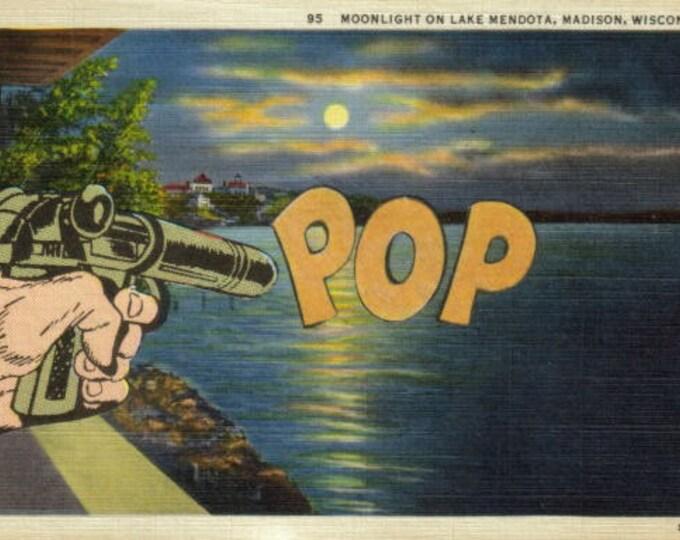 Retro Pop Art, Gun Artwork, Pop Culture Collage