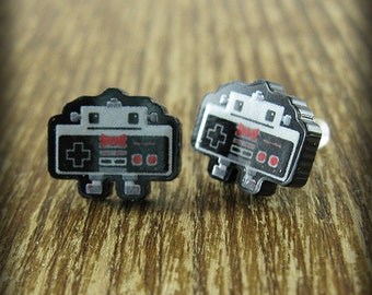 NES Nintendo Controller Robot Acrylic Earrings