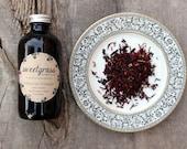 Hibiscus Vinegar - herbal infused raw organic apple cider vinegar for henna