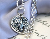 Silver Owl necklace - choice of chain length