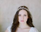Pearl baby's breath halo, bridal crown - Freshwater pearl baby's breath - Style 510 - Ready to Ship