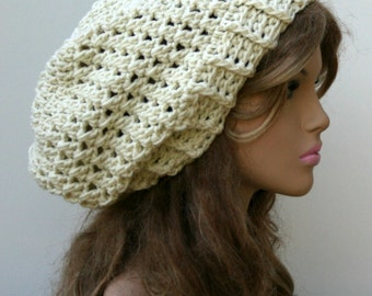 PDF Instant Download Pattern Baggy Hipster Slouchy Beanie Crochet Hat Permission to sell finished hats