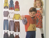 Toddler Animal Vest,  Pants, Jumper and Knit Top - sewing pattern Simplicity 4383 sizes 1/2, 1, 2, 3, 4