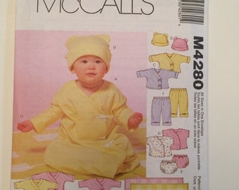 Infant Layette Pattern McCall's 4280 - sew for Baby