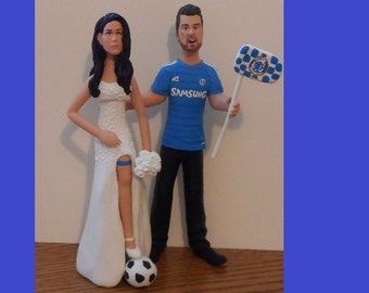 Sports Fans Wedding Cake Topper - Personalized to Look Like You