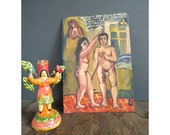 1970 Retablo - Impotency - Virgin Mary - Vintage Alter Piece - Painted on Metal
