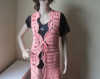 Crochet vest, FESTIVAL CLOTHING,  Maxi vest, crochet fringe maxi vest, boho long vest, long vest, , Gypsy, hippie