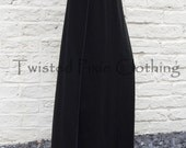 Gothic Long Skirt with Coloured Stitching ~ Goth ~Grunge ~ Alternative ~ Sizes 6 to 30 ~ Last Chance to Buy