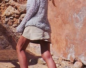 silver light gray lightweight oversized grunge loose knit sweater 2 left in this shade