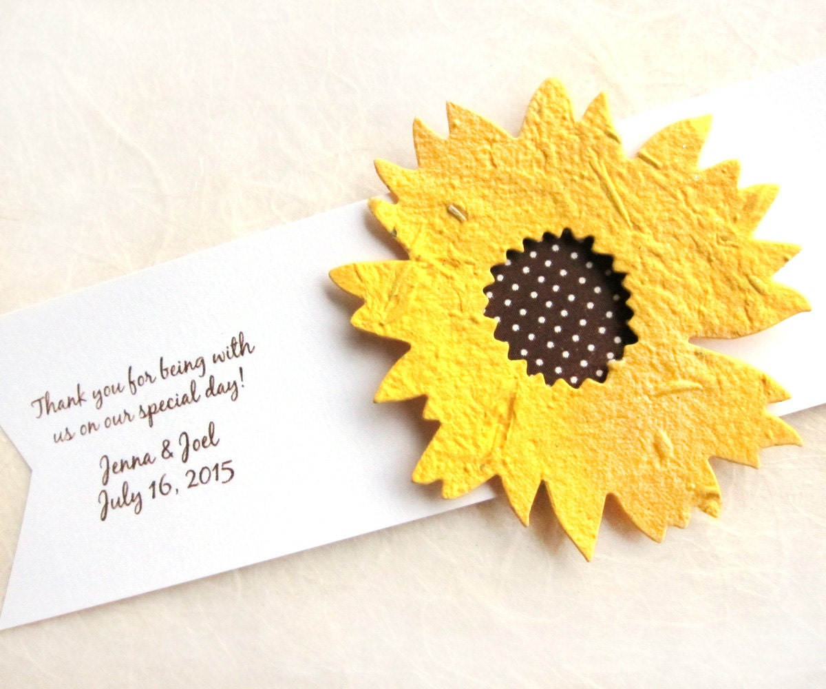 Sunflower Wedding Favor Ideas: Sunflower Seed Wedding Favors Golden Yellow By Recycledideas