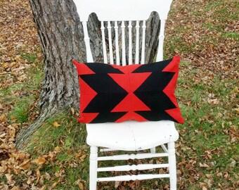 Flying Arrows Small Bolster Seminole Quilt Pillow Tribal Navajo