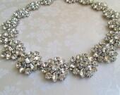 Wedding Sash crystal Bridal Belt  Wedding dress sash Ivory Ribbon sash bridal dress sash silver rhinestone belt