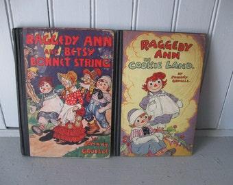 1931 & 1943 Raggedy Ann Books by Johnny Gruelle