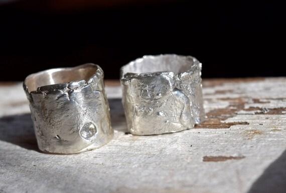Modern Wedding Rings Urban Rustic Bands Unique