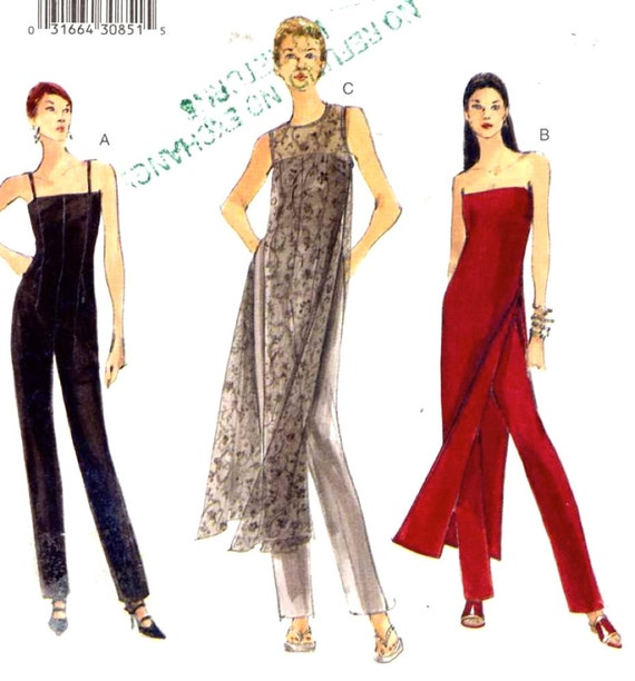 combinaison et tunique 90 s soir e usure vintage couture. Black Bedroom Furniture Sets. Home Design Ideas
