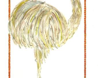 Bird, Bird Art, Rhea Bird Art, Rhea Bird, Great American Rhea Bird print