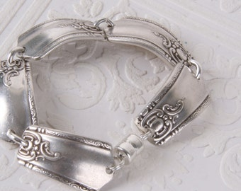 Multi Link Spoon Handle Bracelet with Magnetic Clasp from Girl Ran Away with the Spoon