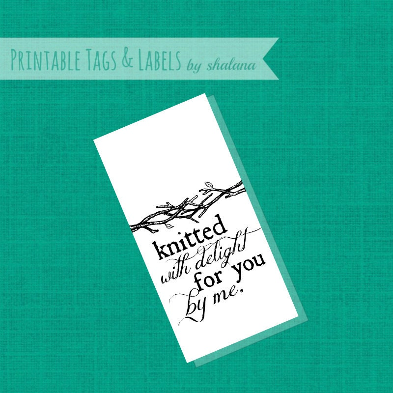 Printable pdf craft show tag knitted with delight labels for Free craft show listings