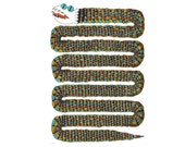 Feather Snake - Digital Signed Print on white felt paper