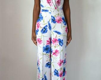 Crossback Noelle Daisy Print Jumpsuit