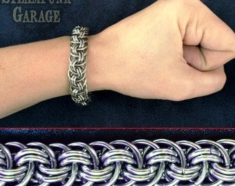 Viper Basket - Orbital Vipera Berus - Thick Stainless Steel Chainmaille