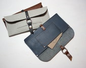 Leather Billfold Clutch // Flat Wallet / Leather Wallet / Small Leather Clutch / Clutch Purse