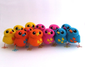Design Your Own Needle Felted Lovebird Tweet