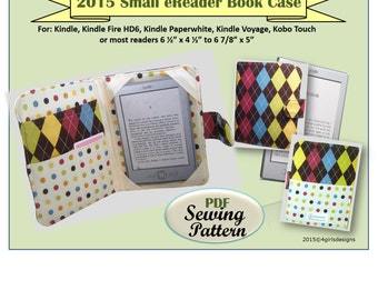 NEW 2015 Padded Small eReader Book Case INSTANT DOWNLOAD Make It Yourself Sewing Pattern