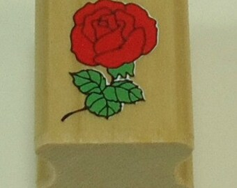 Rose Wood Mounted Rubber Stamp By Noteworthy SN02