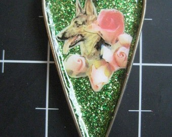 German Shepherd Dog in My Heart Pendant, 50% goes to the current selected animal protection charity
