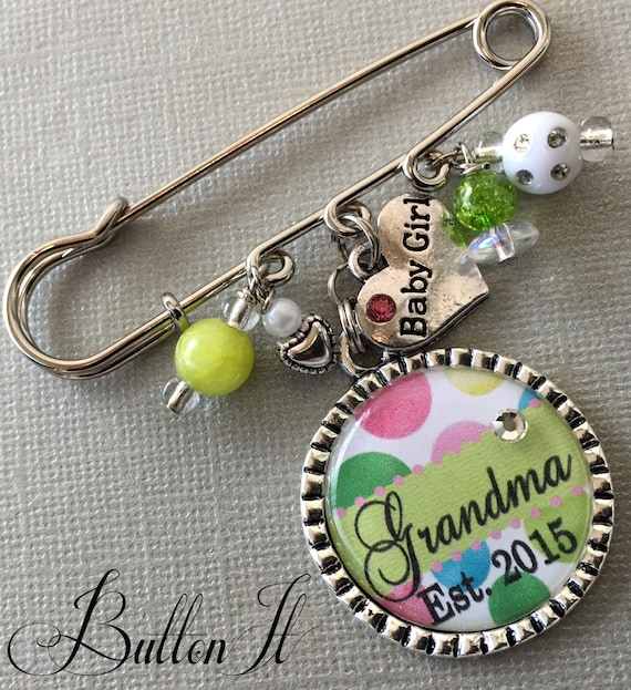 Grandma TO be, Mom To Be, Aunt To Be PERSONALIZED Pin, GENDER reveal party, Est. 2015, Baby Shower, pregnancy announcement, expecting mom
