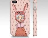 Phone Case - iphone - Magical Creatures - Bunny girl - pink
