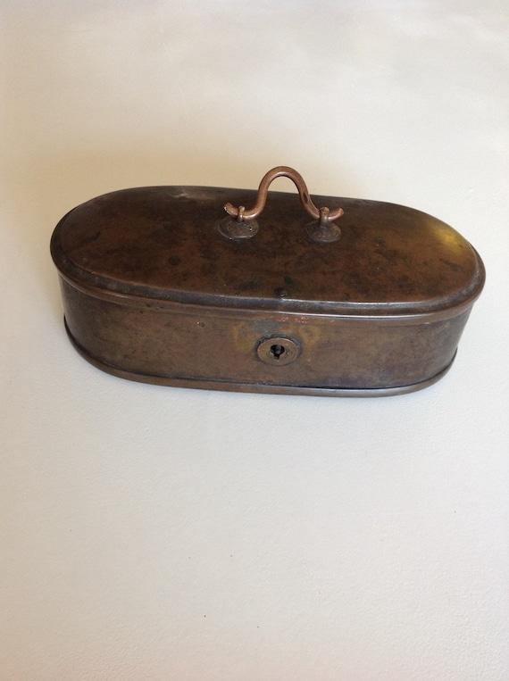 Ca 1775 Brass Tea Caddy