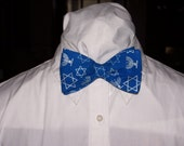 Hanukkah Clip On Bow Tie
