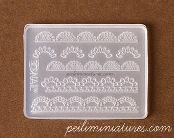 Miniature Lace Silicone Mold - Pearl Lace