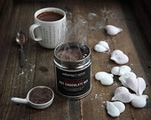 Spiced Hot Chocolate and Marshmallow Hearts Gift Box, Hot Chocolate Mix, Coconut Marshmallow Hearts