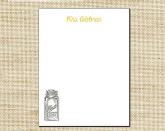 Unique Holiday Gift, Custom Note Pad, Ball Jar, Vintage, Personalized Notepad, NotePad, Custom Notepad, Holiday Gifts, Unique Gift