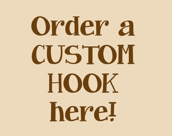 Hand Carved Crochet Hook - Get A Custom Made for YOU