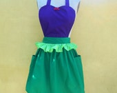 apron little Mermaid Ariel princess APRON  Princess style  womens full Apron Ariel costume