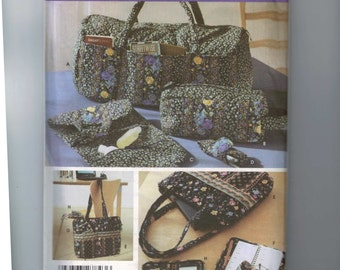Craft Sewing Pattern Simplicity 5025 Accessories Purse Wallet Handbag Quilted  Eyeglass Case Duffle UNCUT  99
