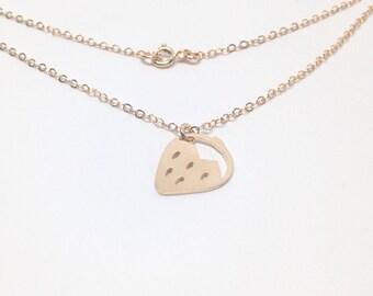 Gold Strawberry Necklace by Sarah Cecelia Jewelry