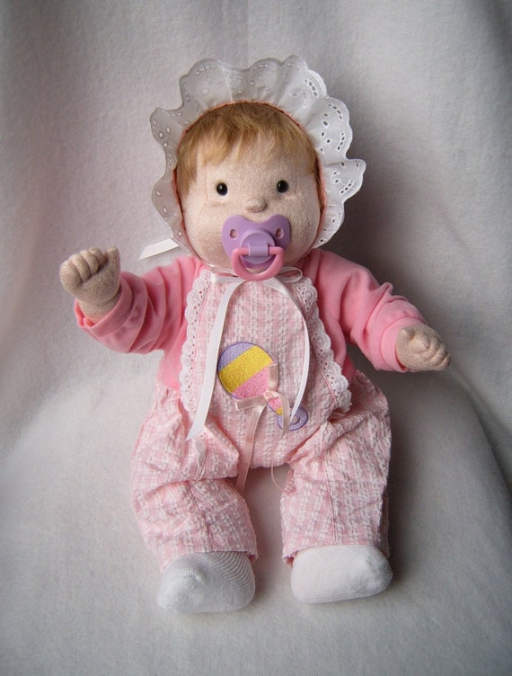 Cloth Baby Doll Soft Sculpture Baby Doll Rag Doll Ready To