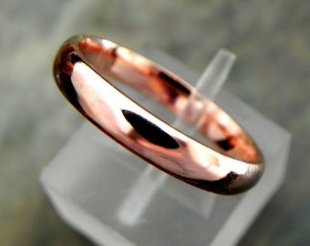 14K Rose gold Comfort fit wedding band 2mm