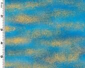 Gold Dust on Blue Lair of the Dragon Kona Bay Fabric 1 yard