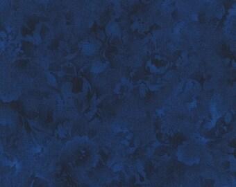 Fusions Bloom Navy Blue Kaufman Fabric 1 yard